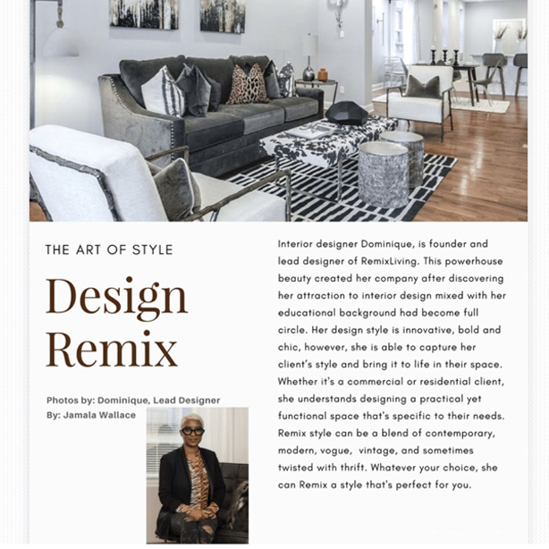 Print highlight The Art of Style featuring Remix Living Article by Jamala Wallance  sc 1 st  Remix Living & Press u0026 Events | Remix Interior Decor Furnishing Staging