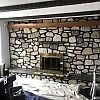 Fire Place wall with Living room Styling <br> Location: Springfield, PA